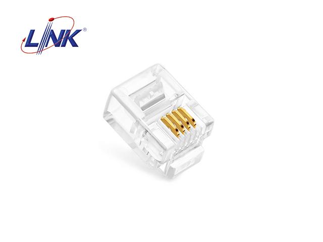 หัวโทรศัพท์ 4 Core LINK รุ่น UL-3011