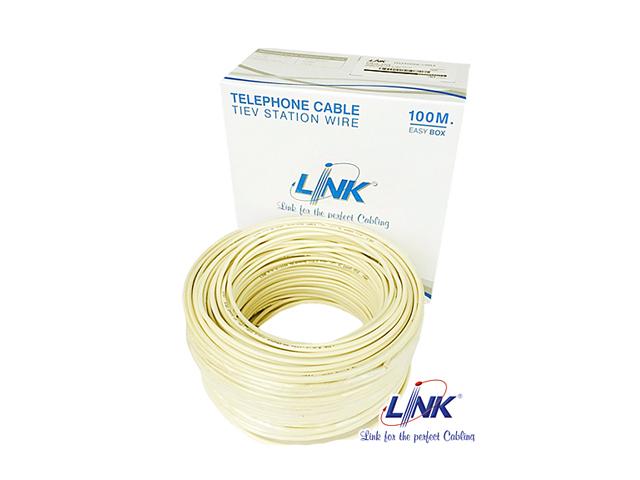 สายโทรศัพท์ 4 คอร์ LINK รุ่น UL-1024 ม้วน 100 เมตร
