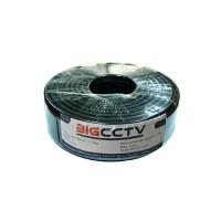 สายนำสัญญาณ RG6 BIG CCTV ชีลด์ 95% สีดำ 100 เมตร