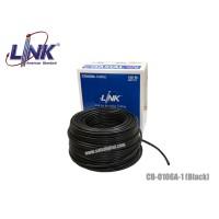 สายนำสัญญาณ RG6 LINK ชีลด์ 95% สีดำ กล่อง 100 เมตร