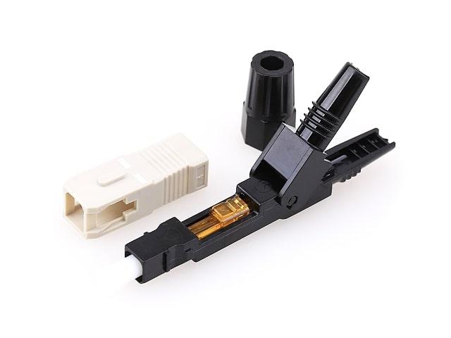 หัวไฟเบอร์ออฟติก SC/UPC Fast Connector (สำหรับสายมัลติโหมด)