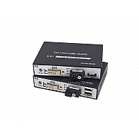 DVI TO FIBER EXTENDER SINGLE MODE / USB / AUDIO / 1080P / 20KM