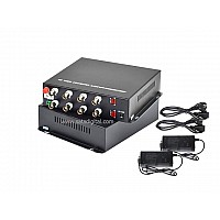 Fiber Optic HD Video Converter 8Ch 4iN1 1080p