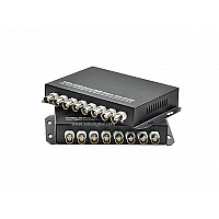 Fiber Optic HD Video Converter 8Ch 4iN1 720p