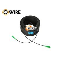 Ftth Drop 1 Core Owire เข้าหัว SC/APC มั้วน 50 เมตร มีสลิง