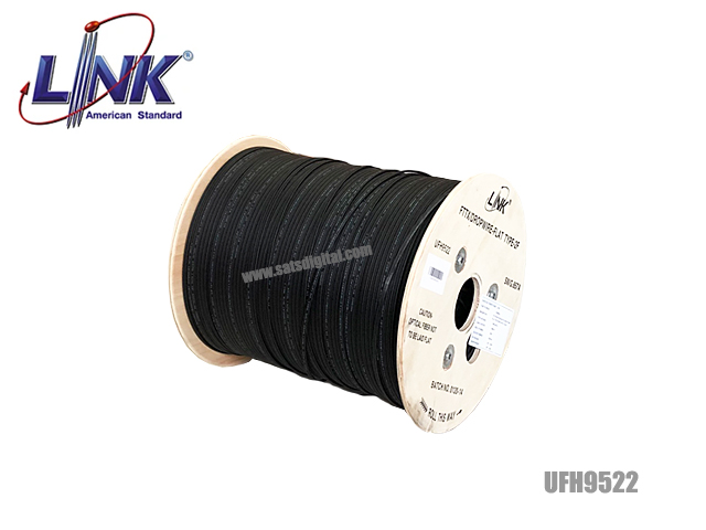 สายไฟเบอร์ออฟติก Link 2 Core ม้วน 1000 เมตร (มีสลิง)