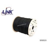 สายไฟเบอร์ออฟติก Link 4 Core ม้วน 1000 เมตร (มีสลิง)