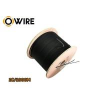 สายไฟเบอร์ออฟติก Owire 1 Core มั้วน 1000 เมตร มีสลิง