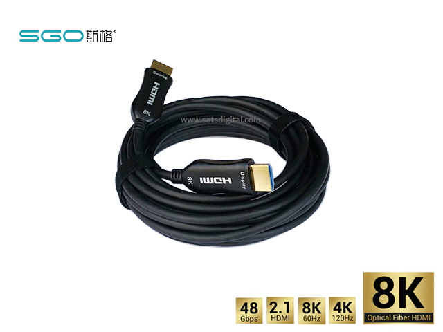 Fiber Optic Hdmi Cable 8K เวอร์ชั่น 2.1 ระยะ 5 เมตร