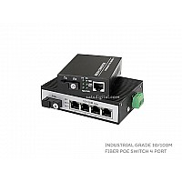 10/100M Industrial Fiber Poe Switch 1X4 Port (WDM)
