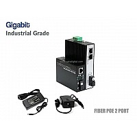 Gigabit Industrial Fiber Poe Switch 1X2 Port (WDM)