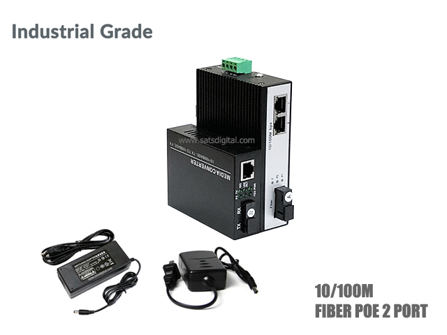 10/100M INDUSTRIAL FIBER POE SWITCH 2 PORT (WDM)