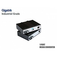 Gigabit Industrial Fiber Media Converter Full Set (WDM)