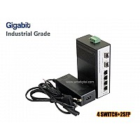 Gigabit Industrial Switch 4 Port + 2SFP Uplink