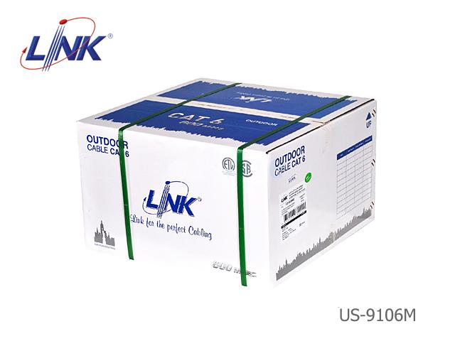 สายแลน CAT6 UTP LINK รุ่น US-9106MD / PE / มีสลิง (305 เมตร)