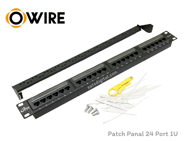 PATCH PANEL 24 PORT OWIRE 1U