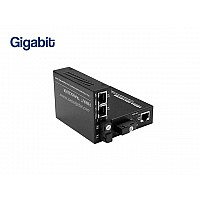 GIGABIT FIBER MEDIA CONVERTER 2 PORT (WDM)