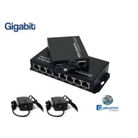 Gigabit Fiber Media Converter 1X8 Port (WDM)