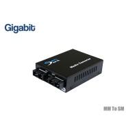 Gigabit Fiber Media Converter MM 850 To SM 1310