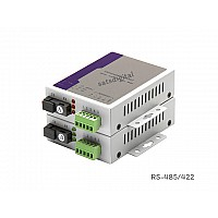 Serial to Fiber Converter RS485/422 SM Bidi SC 20km