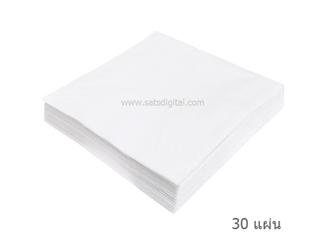 กระดาษเช็ดสายไฟเบอร์ออฟติก สายใยแก้วนำแสง  (30 ชิ้น/ถุง)