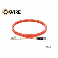 Patch Cord Fiber OM2 50/125 Owire MM-DX ST-LC/UPC (3 เมตร)