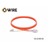 Patch Cord Fiber OM2 50/125 Owire MM-DX SC-LC/UPC (3 เมตร)