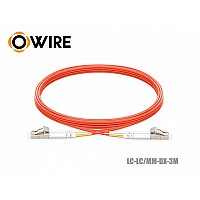 PATCH CORD FIBER 50/125 OWIRE MM-DX LC-LC/UPC (3 เมตร)