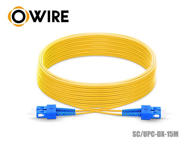 Patch Cord Fiber 9/125 Owire SM-DX SC/UPC (15 เมตร)
