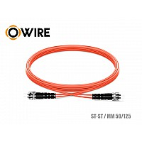 PATCH CORD FIBER 50/125μm OWIRE MM-DX ST-ST/UPC (3 เมตร)