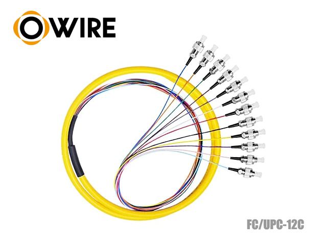 Pigtail Fiber 12 Core 9/125 Owire FC/UPC 0.9mm (1.5 เมตร)