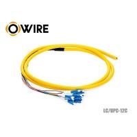 สายพิกเทล 12 Core OWIRE หัว LC/UPC ขนาด 0.9 มม. ยาว 1.5 เมตร
