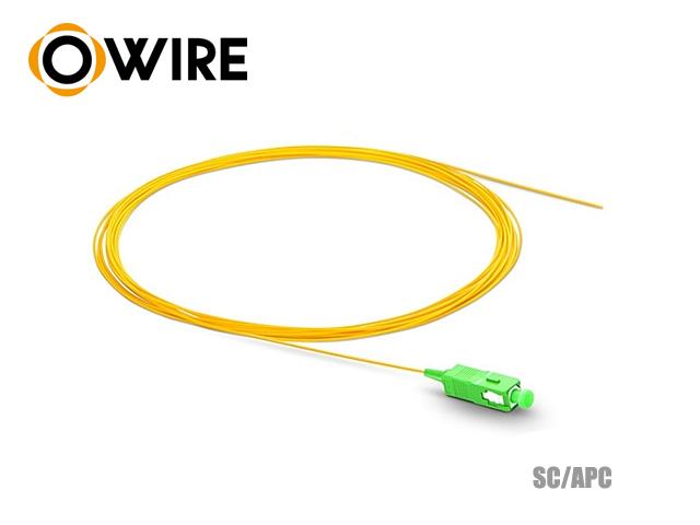 Pigtail Fiber 1 Core 9/125 Owire SC/APC 0.9mm (1.5 เมตร)