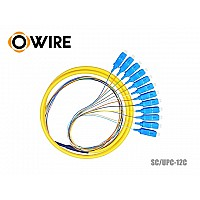 PIGTAIL 12 CORE OWIRE SC/UPC 0.9MM (1.5 เมตร)