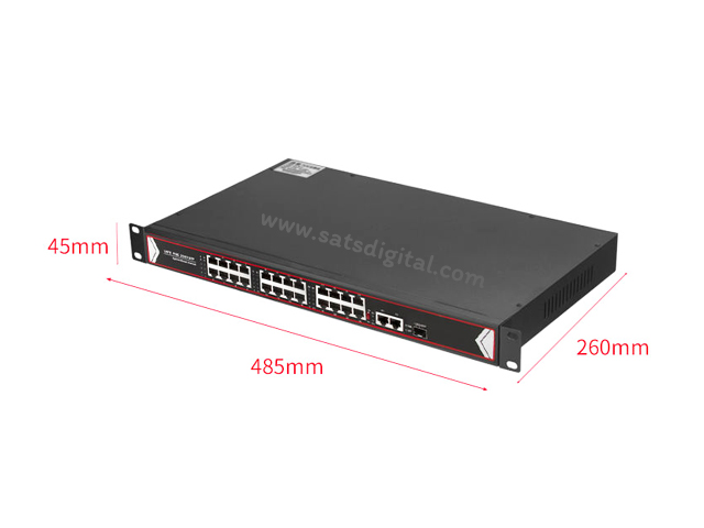 10/100M POE SWITCH 16 PORT+2LAN/1000+1SFP UPLINK