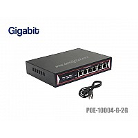 Gigabit Poe Switch 4 Port + 2GE Uplink
