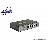 LINK GIGABIT POE SWITCH 4 PORT+1LAN/G UPLINK