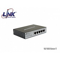LINK 10/100M POE SWITCH 4 PORT+1LAN UPLINK