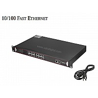 10/100M POE SWITCH 16 PORT+2LAN/1000 UPLINK