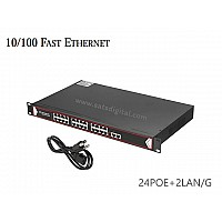 10/100M POE SWITCH 24 PORT+2LAN/G UPLINK