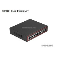 10/100M Poe Switch 8 Port + 2GE Uplink