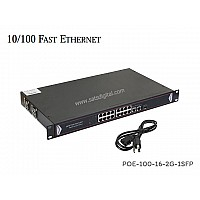 10/100M POE SWITCH 16 PORT+2LAN/G+1SFP UPLINK