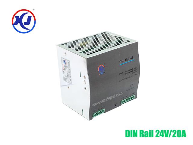Industrial Power Supply Din Rail 24V/20A กำลังไฟ 480W
