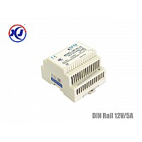 INDUSTRIAL POWER SUPPLY DIN RAIL 12V/5A กำลังไฟ 60W