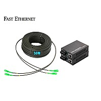 Ftth Drop 2 Core Owire 50 เมตร + Media Duplex 10/100M