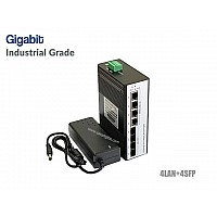 Gigabit Industrial Switch 4GE + 4SFP