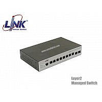 GIGABIT L2 MANAGED SWITCH LINK 8 PORT+2SFP