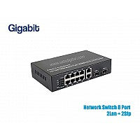 GIGABIT SWITCH 8 PORT+2LAN+2SFP UPLINK
