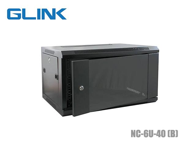 ตู้แร็คเก็บอุปกรณ์ 6U GLINK รุ่น NC-6U-40 ลึก 40CM + ชั้นวาง (สีดำ)